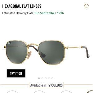 Rayban Hexagonal 51mm Sunglasses